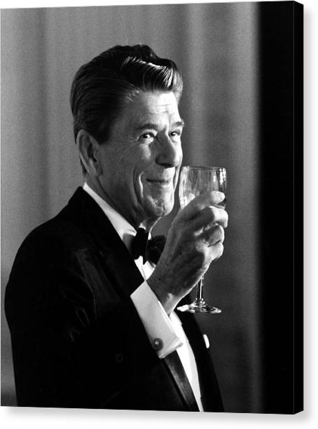 President Canvas Print - President Reagan Making A Toast by War Is Hell Store