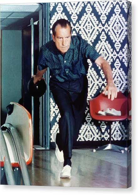 Canvas Print - President Richard Nixon Bowling by Digital Reproductions