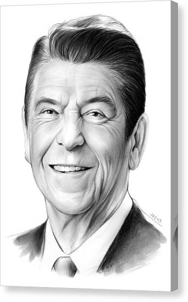 White House Canvas Print - President Ronald Reagan by Greg Joens