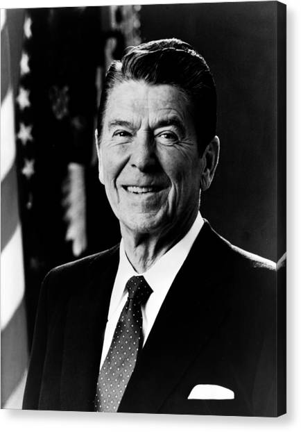 Presidential Portrait Canvas Print - President Ronald Reagan by International  Images