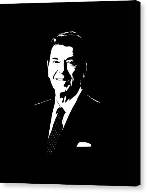 Ronald Reagan Canvas Print - President Ronald Reagan by War Is Hell Store