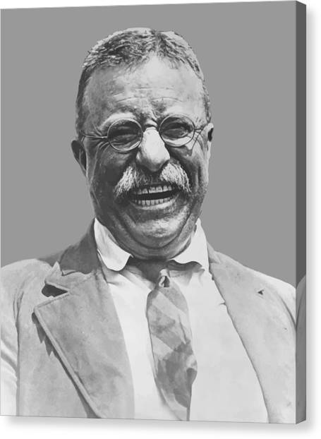 President Canvas Print - President Teddy Roosevelt by War Is Hell Store