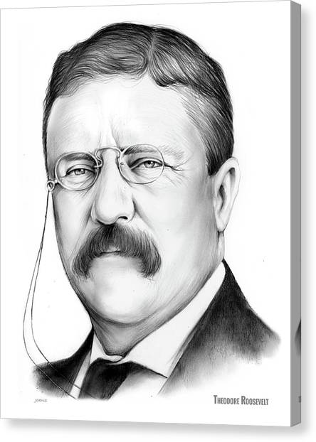 Political Canvas Print - President Theodore Roosevelt 2 by Greg Joens