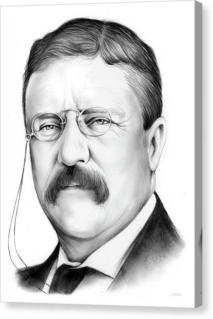 Theodore Roosevelt Canvas Print - President Theodore Roosevelt by Greg Joens