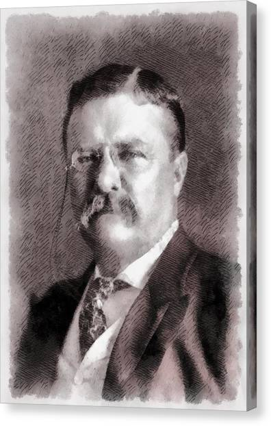 Theodore Roosevelt Canvas Print - President Theodore Roosevelt by John Springfield