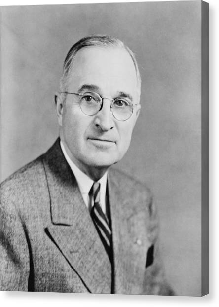 Harry Truman Canvas Print - President Truman by War Is Hell Store