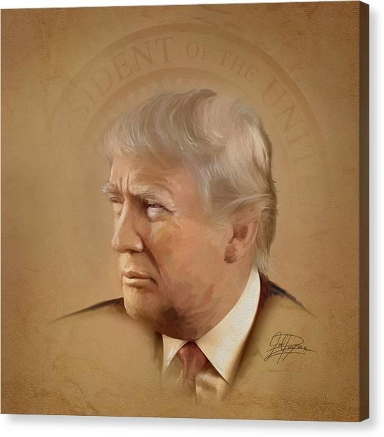Donald Trump Canvas Print - President Trump by Joel Payne