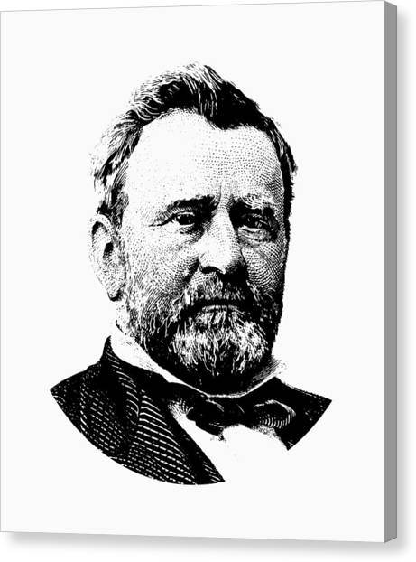 Us Civil War Canvas Print - President Ulysses Grant Graphic by War Is Hell Store