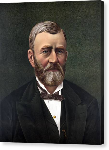 U. S. Presidents Canvas Print - President Ulysses Grant by War Is Hell Store