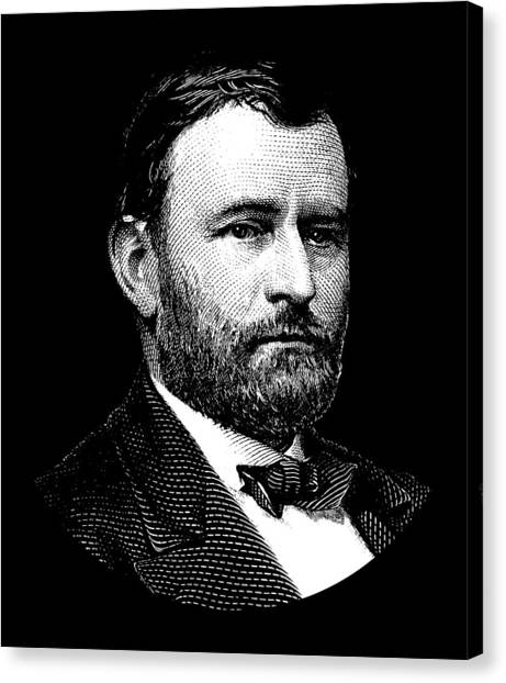 Us Civil War Canvas Print - President Ulysses S. Grant Graphic Three by War Is Hell Store