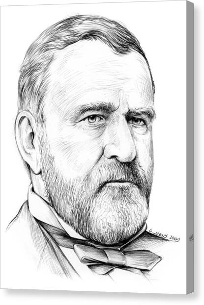 U. S. Presidents Canvas Print - President Ulysses S Grant by Greg Joens