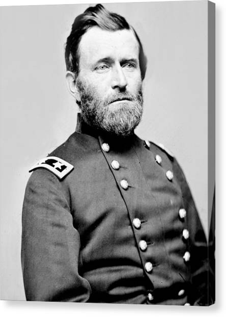 President Ulysses S Grant In Uniform Canvas Print