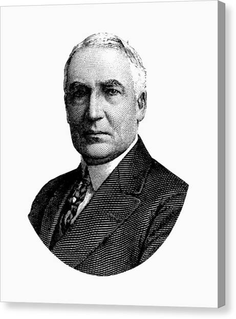 Republican Presidents Canvas Print - President Warren G. Harding Graphic by War Is Hell Store