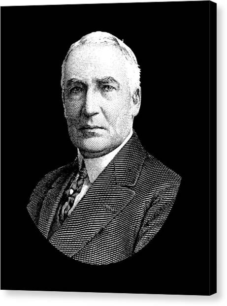 Republican Presidents Canvas Print - President Warren G. Harding by War Is Hell Store