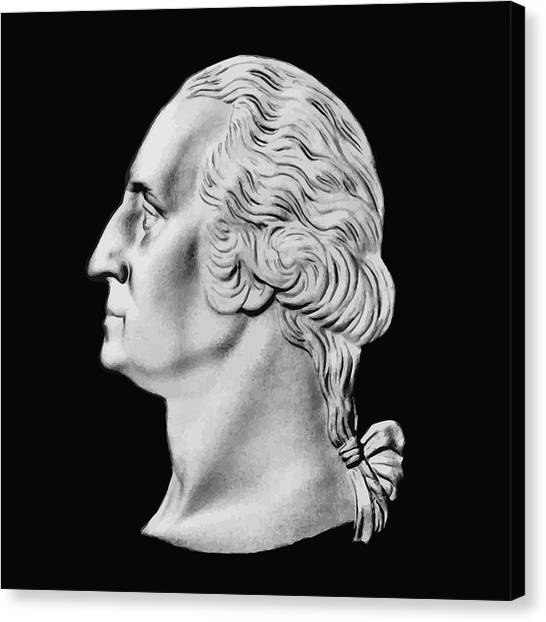 George Washington Canvas Print - President Washington Bust  by War Is Hell Store