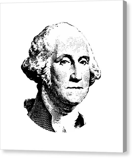George Washington Canvas Print - President Washington by War Is Hell Store