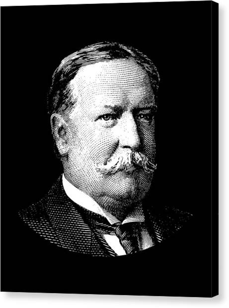 Republican Presidents Canvas Print - President William Howard Taft by War Is Hell Store