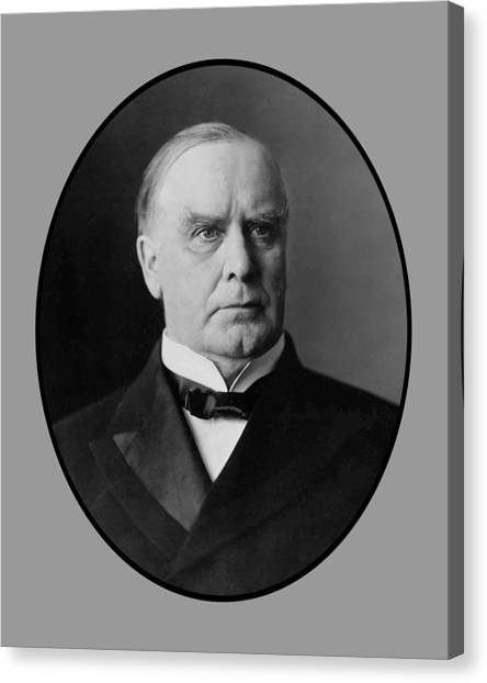 Republican Presidents Canvas Print - President William Mckinley  by War Is Hell Store
