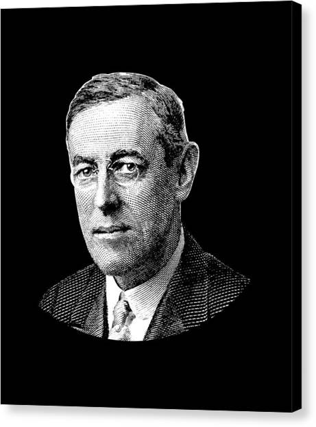 Democratic Presidents Canvas Print - President Woodrow Wilson Graphic - Black And White by War Is Hell Store