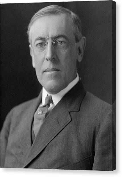 Democratic Presidents Canvas Print - President Woodrow Wilson by War Is Hell Store