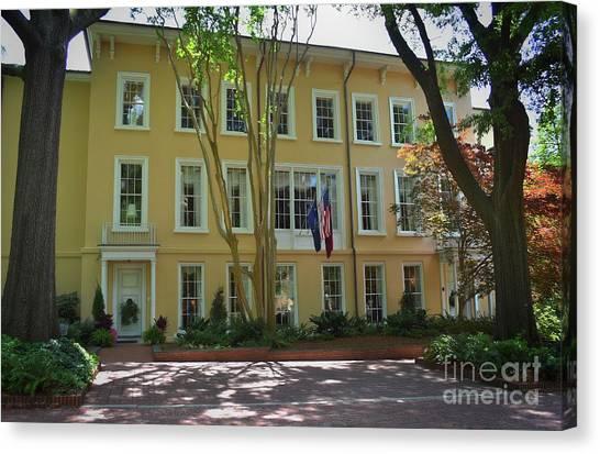 University Of South Carolina Canvas Print - President's Residence University Of South Carolina by Skip Willits