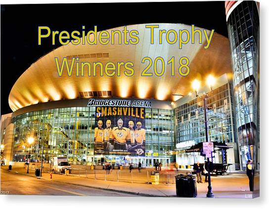 Western Conference Canvas Print - Presidents Trophy Winners 2018  by Lisa Wooten