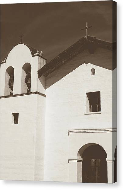 Chapel Canvas Print - Presidio Chapel- Art By Linda Woods by Linda Woods