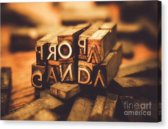 Type Canvas Print - Press Of Propaganda by Jorgo Photography - Wall Art Gallery