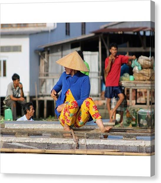 Vietnamese Canvas Print - Pretending She's Not There #instaphoto by Jesper Staunstrup