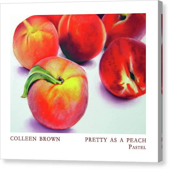 Pretty As A Peach Canvas Print by Colleen Brown