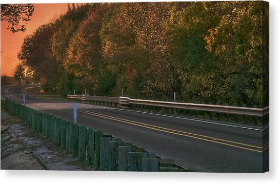 Pretty As The Road Canvas Print by Philip A Swiderski Jr