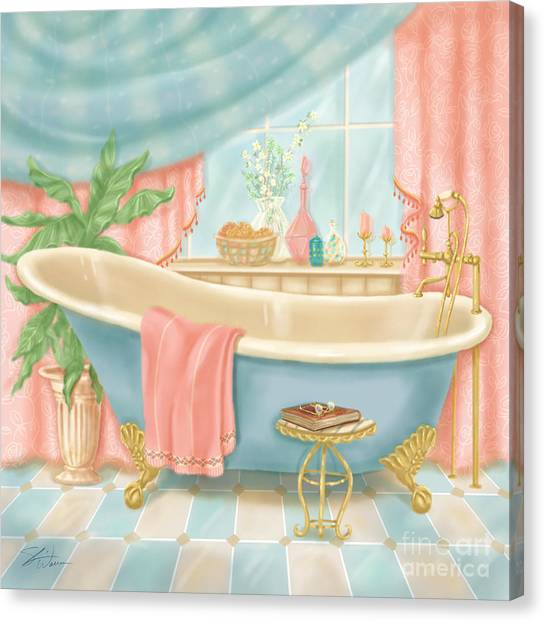 Pretty Bathrooms I Canvas Print