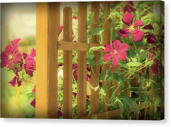 Pretty Flower Garden Canvas Print