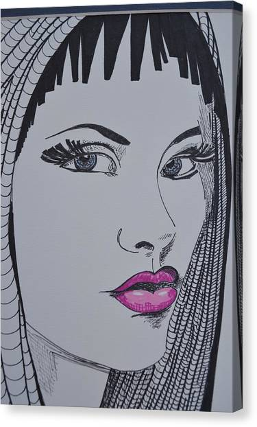 Pretty In Pink Lips Canvas Print