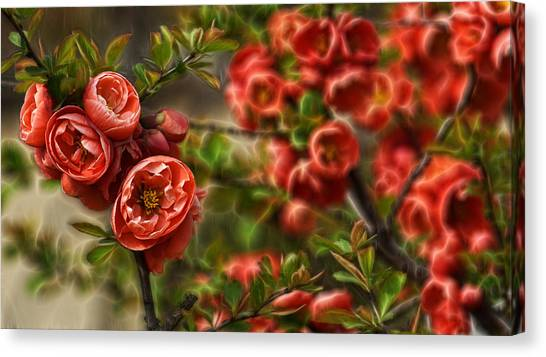Pretty In Red Canvas Print