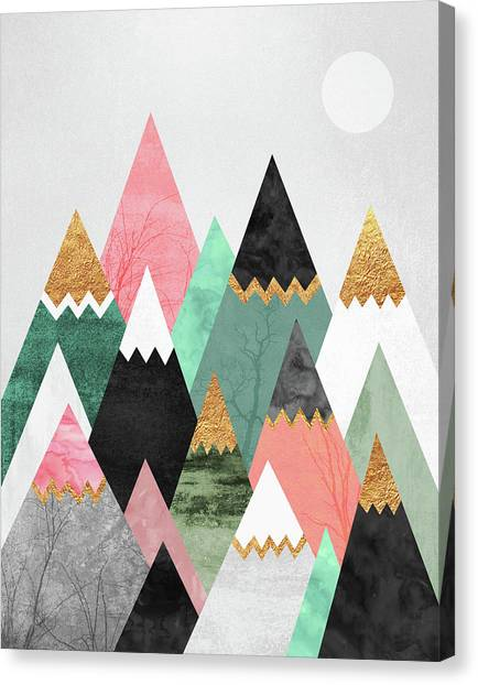 Mountains Canvas Print - Pretty Mountains by Elisabeth Fredriksson