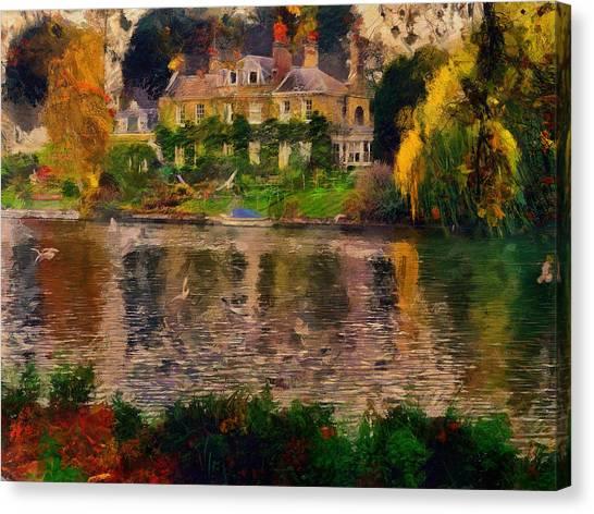 Pretty On The River Canvas Print