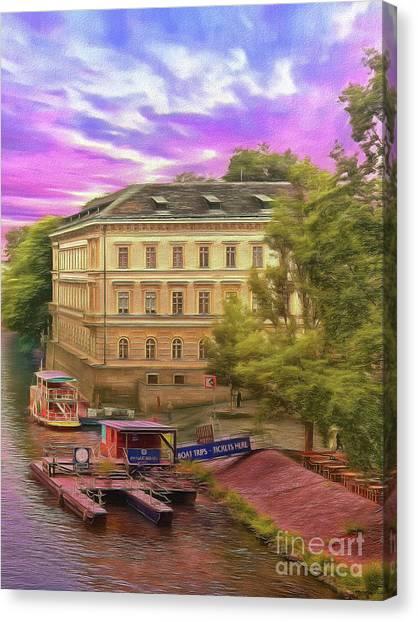 Pretty On The River - Prague Canvas Print