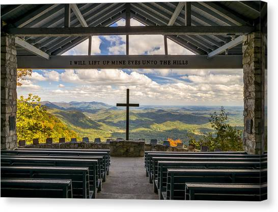 North Carolina Canvas Print - Pretty Place Chapel - Blue Ridge Mountains Sc by Dave Allen