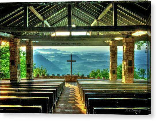 Pretty Place Chapel The Son Has Risen Blue Ridge Mountain Art Canvas Print