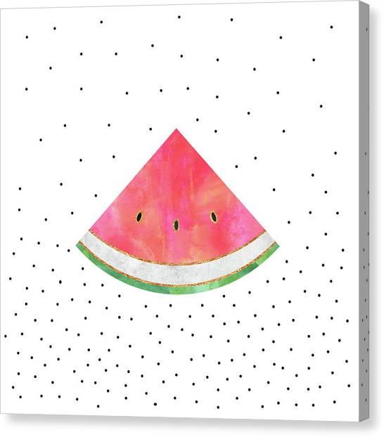 Watermelons Canvas Print - Pretty Watermelon by Elisabeth Fredriksson
