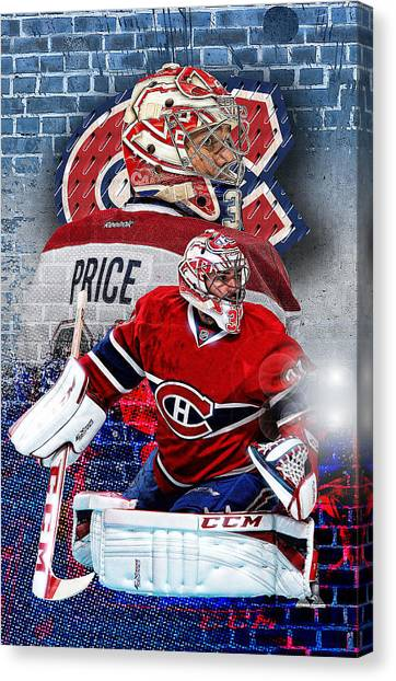Montreal Canadiens Canvas Print - Price Phone Cover 2 by Nicholas Legault
