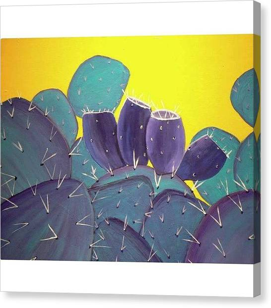 University Canvas Print - Prickly Pear With by Karyn Robinson