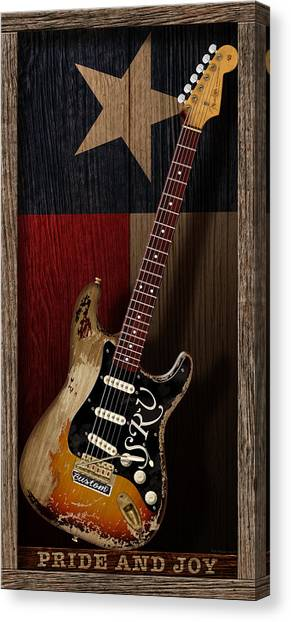 Stratocasters Canvas Print - Pride And Joy by WB Johnston