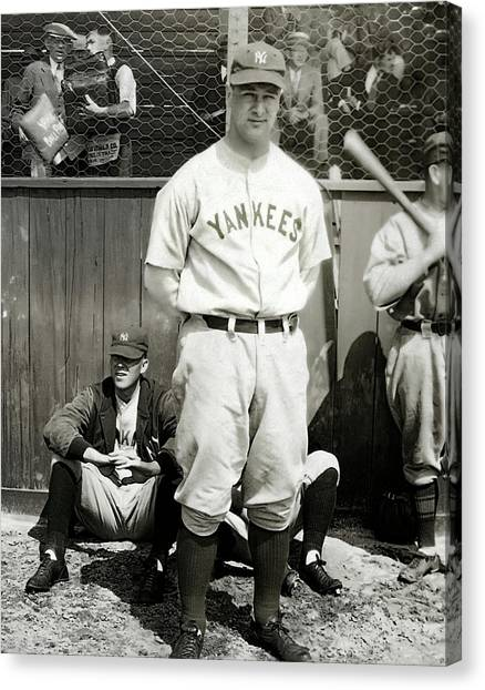 Lou Gehrig Canvas Print - Pride Of The Yankees - Lou Gehrig C. 1930 by Daniel Hagerman