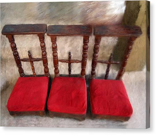 Prie Dieu - Prayer Kneeler Canvas Print