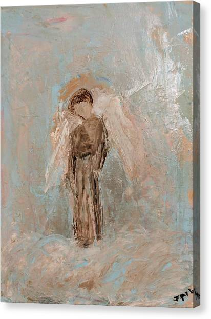 Priest Angel Canvas Print