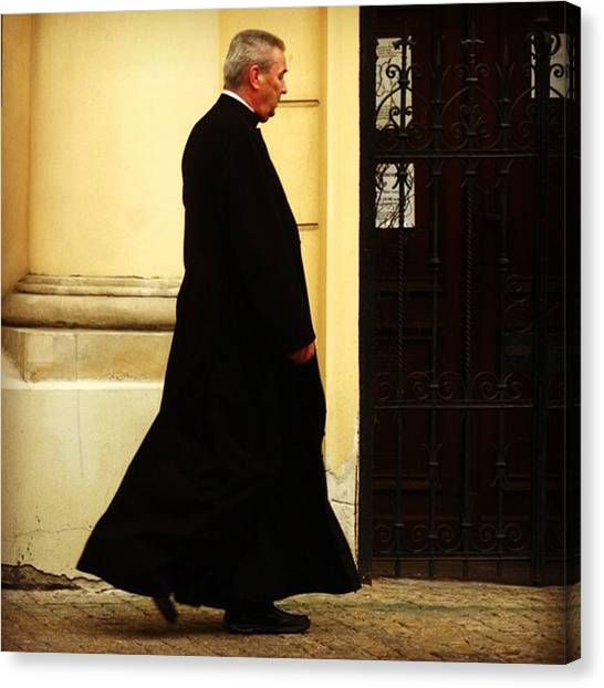 Priests Canvas Print - Priest #poland #warsaw #travel #priest by Zin Zin