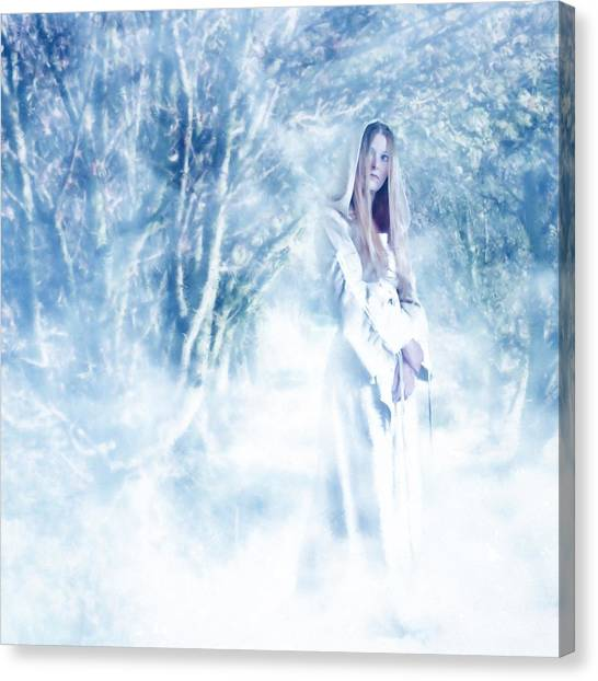 Forests Canvas Print - Priestess by John Edwards