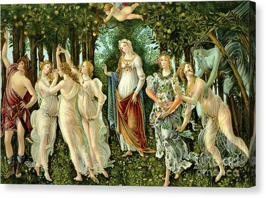 Botticelli Canvas Print - Primavera Or Spring by Sandro Botticelli